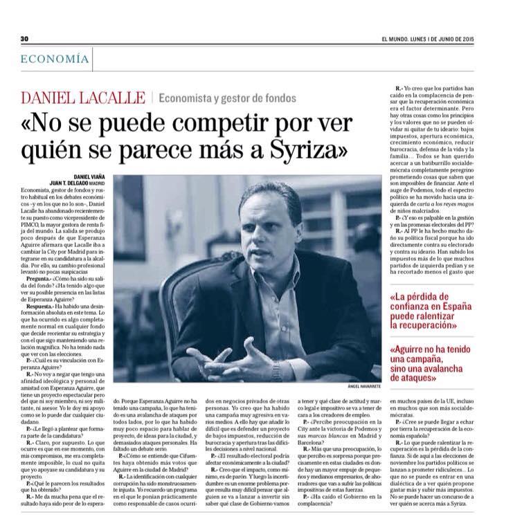 «No se puede competir por ver quién se parece más a Syriza»