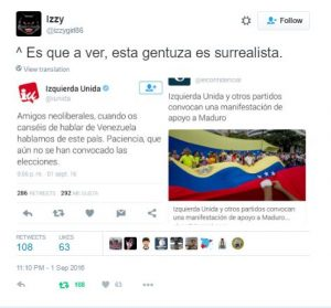IU manifestacion Maduro